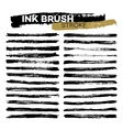 Set of different grunge ink brush strokes vector image