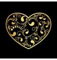 luxury gold heart vector image