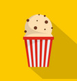 popcorn icon flat style vector image