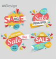 sale - set of labels vector image