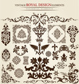 flower vintage royal design vector image
