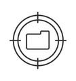aim on folder linear icon vector image