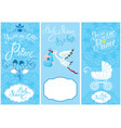 baby boy shower set party decoration scrapbook vector image vector image