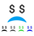 Bankrupt sad emotion flat icon vector image