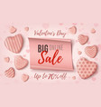 big valentines day online sale background template vector image