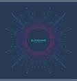 blockchain logo sign icon concept fractal vector image
