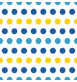 blue and yellow polka dots seamless pattern vector image vector image