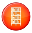 Bookcase icon flat style vector image