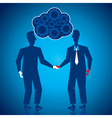 both businessmen shake hand vector image vector image