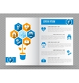 Brochure medical design template vector image