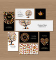 business cards design idea for sweets shop vector image vector image