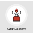 Camping stove Flat Icon vector image vector image