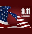 captain saluting usa flag for memorial day vector image vector image
