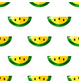 cartoon watermelons on white background seamless vector image vector image