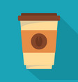 coffee plastic cup icon flat style vector image