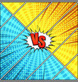 comic duel dynamic concept vector image vector image