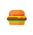 delicious hamburger flat design burger icon vector image vector image