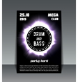drum and bass party flyer vector image vector image