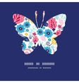 fairytale flowers butterfly silhouette pattern vector image vector image