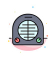 fan heater heating home abstract flat color icon vector image