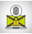fingerprint security internet technology vector image