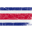 Flag of Costa Rica with old texture vector image