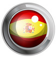 flag of spain in round icon vector image vector image