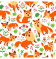 fox nursery seamless pattern a vector image vector image