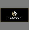 gb hexagon logo design inspiration vector image vector image