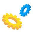 gears isometric mechanical technology vector image