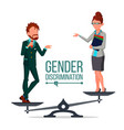 gender discrimination and human comparison vector image