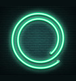 green round neon luminous signboard on realistic vector image