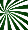 Green swirling ray pattern design vector image vector image