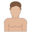 half naked guy icon vector image vector image