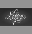 happy new year russian calligraphy christmas vector image