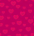 Hearts pink background seamless pattern vector image vector image
