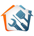 house repair and service with tool vector image