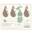 infographic of incandescent light and energy vector image vector image