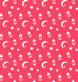 Islamic Seamless Pattern with Arabic Lamps vector image vector image