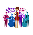 jazz festival live music performance concept vector image