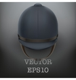 Jockey helmet for horseriding athlete vector image vector image