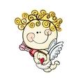 little baby cupid vector image