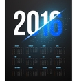 new year 2016 calendar with explosion effect vector image
