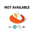 Not aviable icon in different style vector image vector image