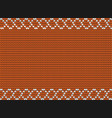 orange autumn fabric template vector image vector image