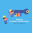 page under construction design vector image