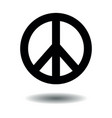 peace symbol sign hippie shape vector image vector image