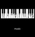 piano with flowing keys vector image