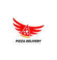 pizza delivery logo vector image vector image