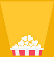 popcorn projector ray of light red yellow strip vector image vector image